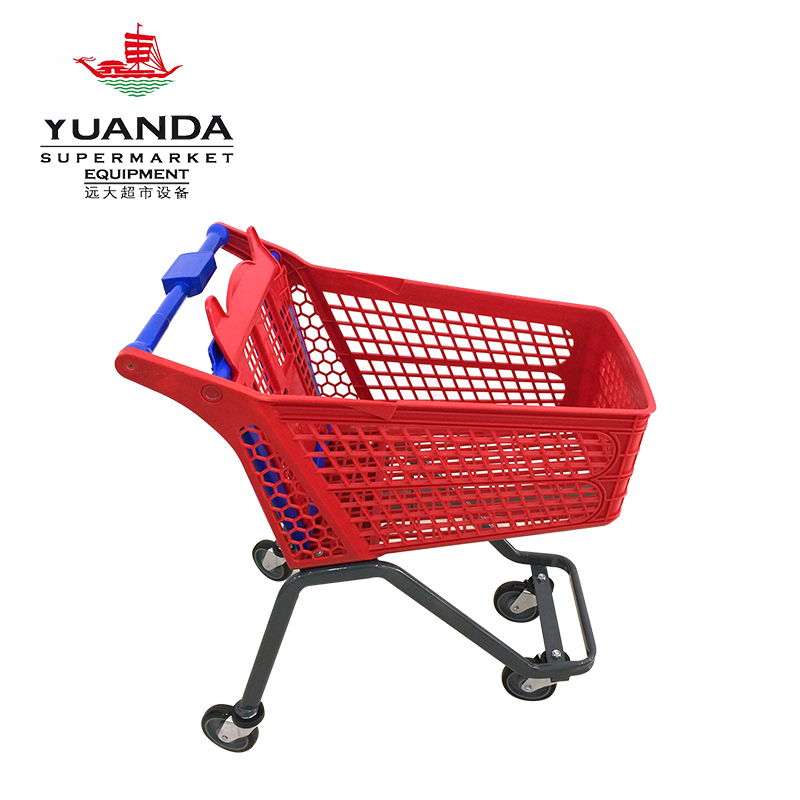 120L plastic shopping trolley